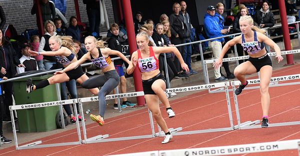 Emilia Johansson, Klippans FK, GM-silver F13 60 m häck, 9,33 (distr. rek.) Foto: Hasse Sjögren, DECA Text&Bild