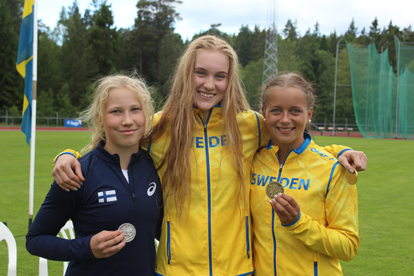 Erika Wärff, NM-guld 2016 i mångkamp för F17 Foto: Kristina Wärff